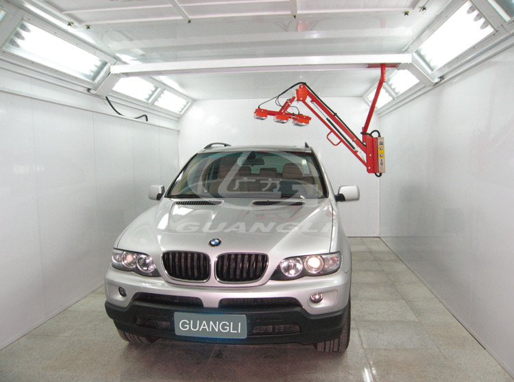 Rear Exhaust Car Spray Booth with Infrared Light